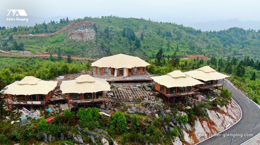 Luxury Safari Lodge Tents on the Top of the Mountain