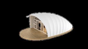 Shell Style Glamping Pod