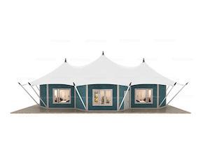 Multi-peak Safari Lodge Tent(Freshing Style)