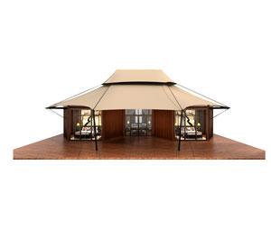 Thai Style Safari Lodge Tent(Three Rooms)