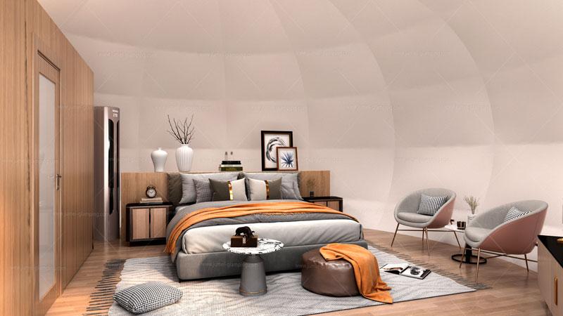 Apple Glamping Pod Bedroom