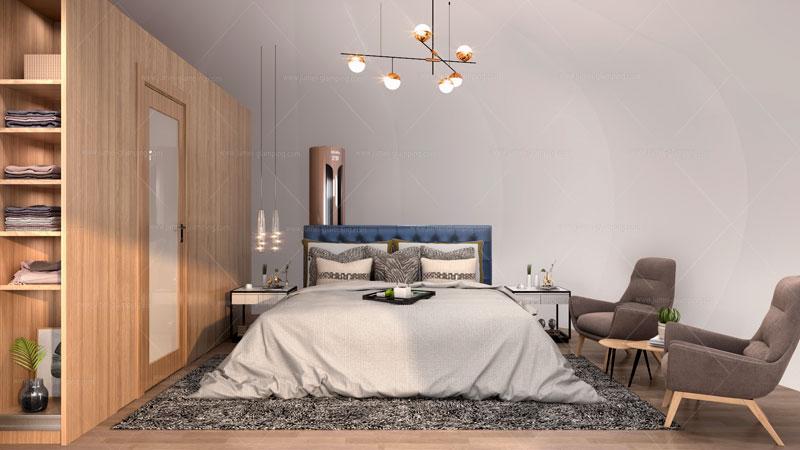 Donut Glamping Pod Bedroom