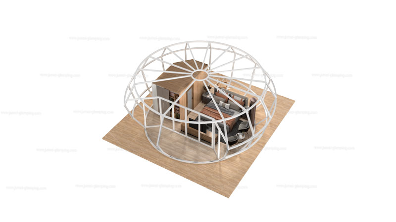 Donut Glamping Pod Structure