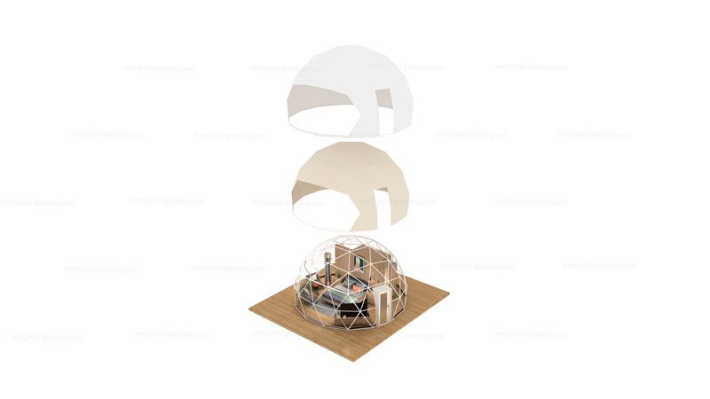 Glamping Dome Pod Exploded View
