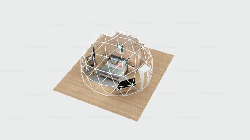 Glamping Dome Pod Structure