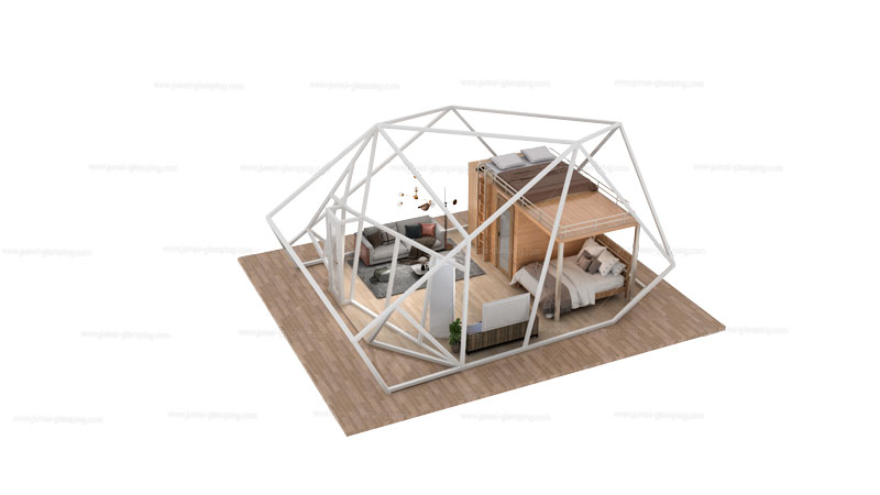 Polygon Glamping Pod Structure