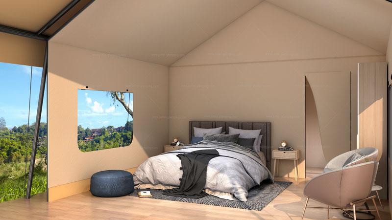 Safari Tent MFS-34 Bedroom