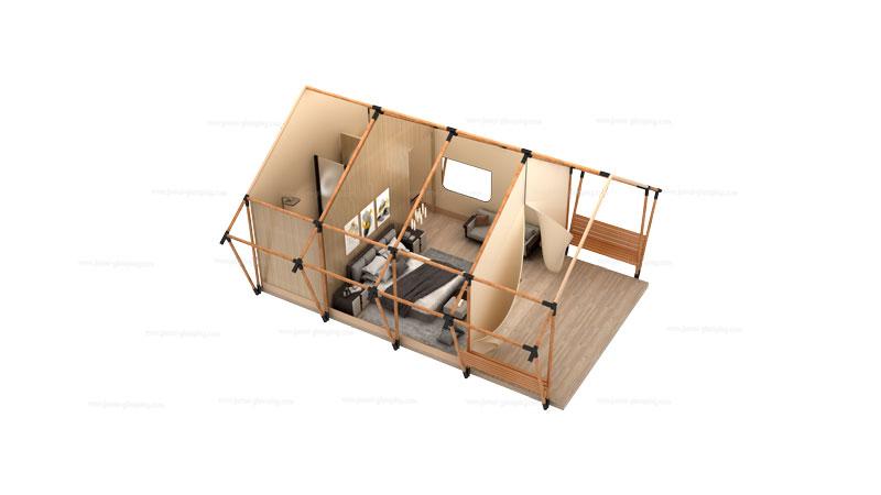 Safari Tent TYS-36 Floor Plan