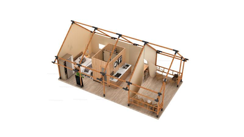 Safari Tent YY-45 Floor Plan