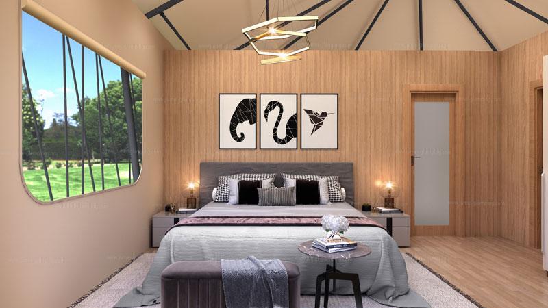 Safari Tent YYS-64 Bedroom