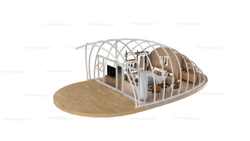 Shell Glamping Pod Structure