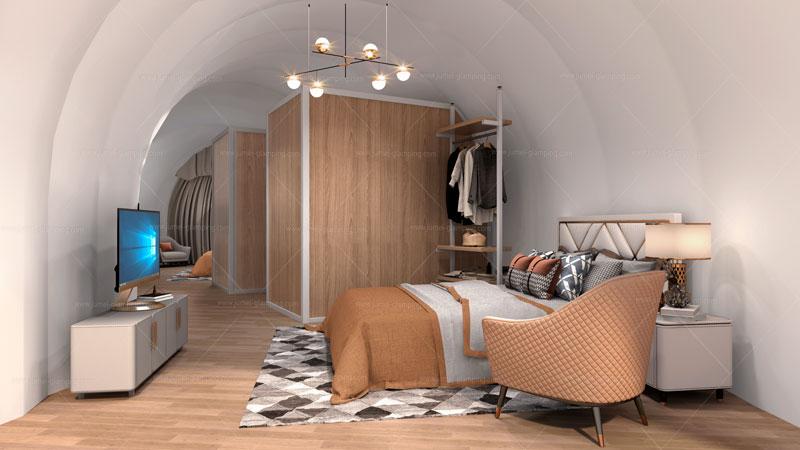 Silkworm Glamping Pod Bedroom