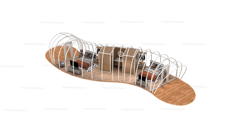 Silkworm Glamping Pod Structure