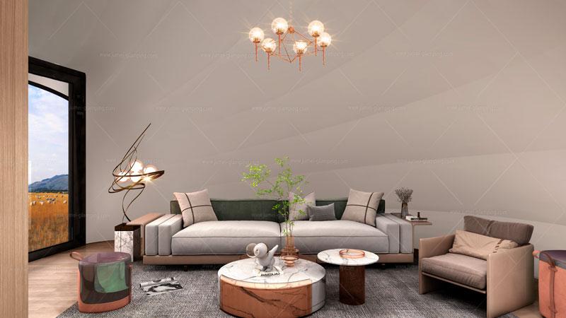 Snail Pod Living Room