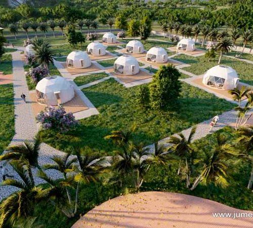 Glamping Resort Idea domes