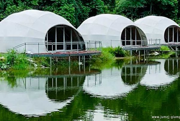 Luxury Waterdrop Glamping Pod by the Lake